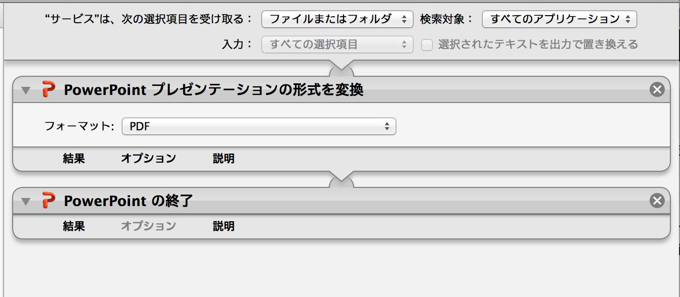automator word pdf 変換